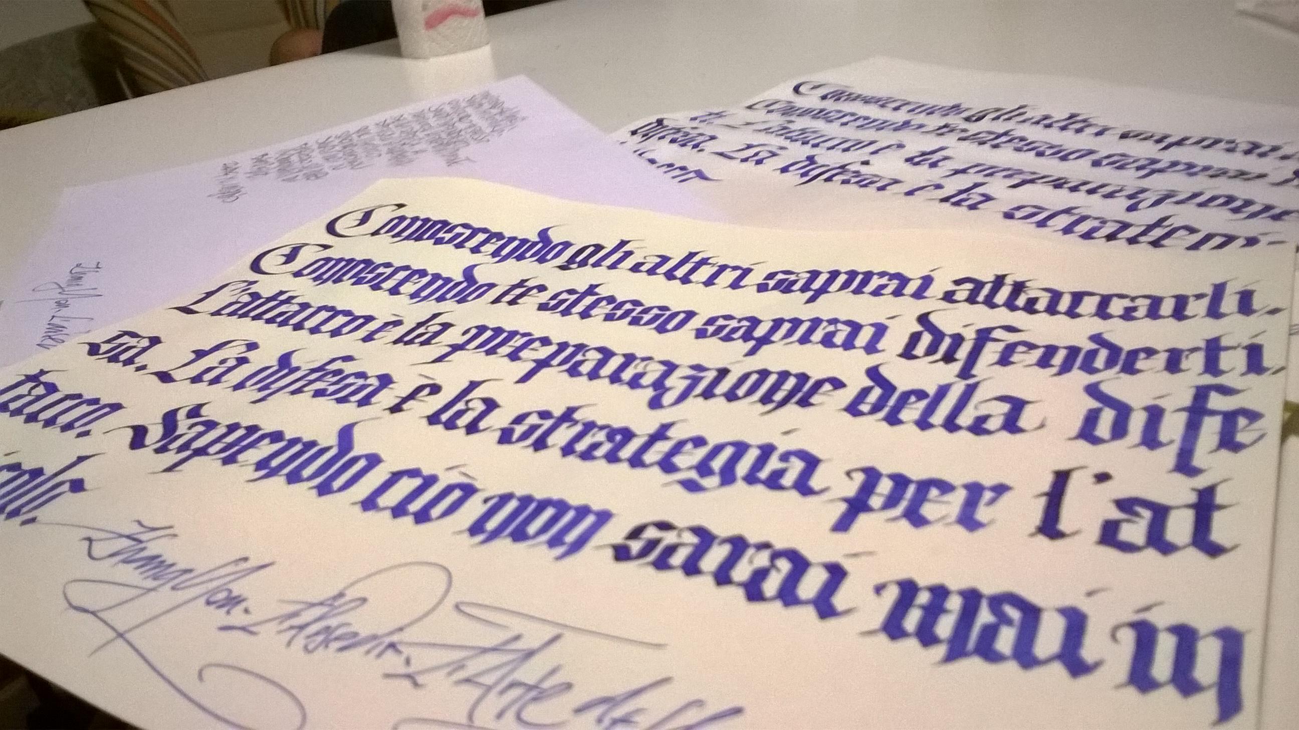 Bella calligrafia Gotico