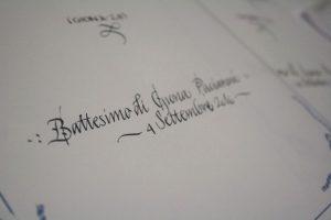calligrafia corsiva