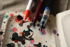strumenti di calligrafia
