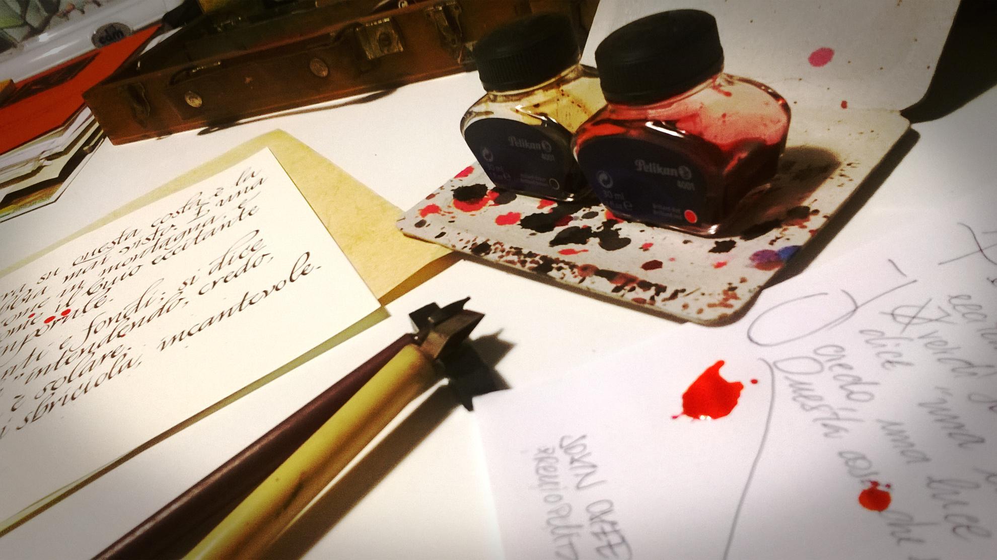 preparazione alla calligrafia