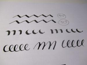 scrivere con il pennino