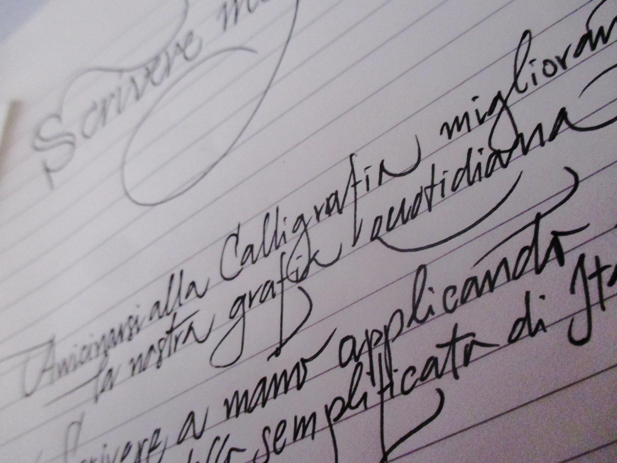 corso di calligrafia corsiva